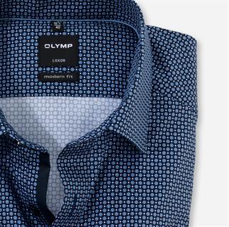 OLYMP extra lange mouw overhemd Modern Fit 130479 in het Marine