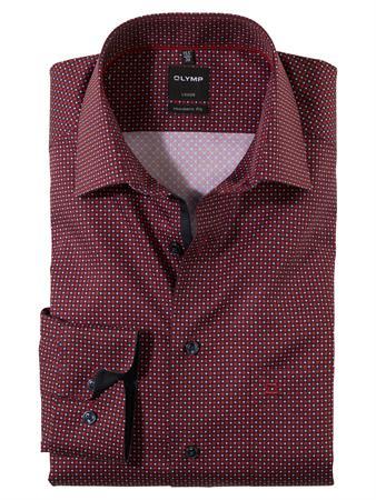 OLYMP extra lange mouw overhemd Modern Fit 130479 in het Rood
