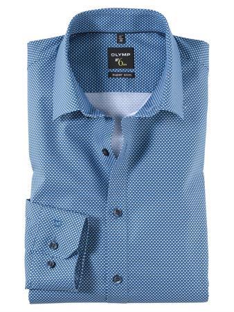OLYMP extra lange mouw overhemd Super Slim Fit 251059 in het Blauw