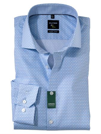 OLYMP extra lange mouw overhemd Super Slim Fit 256689 in het Blauw