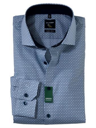 OLYMP extra lange mouw overhemd Super Slim Fit 256689 in het Marine