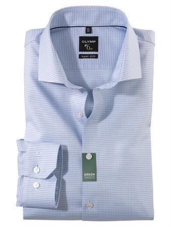 OLYMP extra lange mouw overhemd Super Slim Fit 258889 in het Blauw