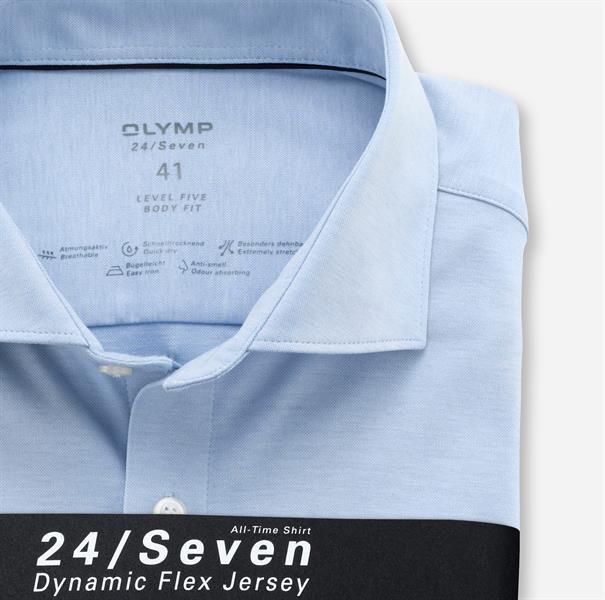 OLYMP jersey overhemd Body fit 200684 in het Blauw