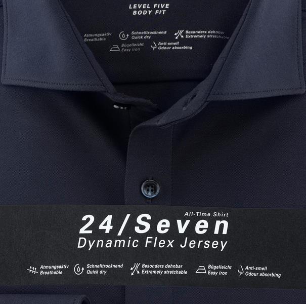 OLYMP jersey overhemd Body fit 200684 in het Marine