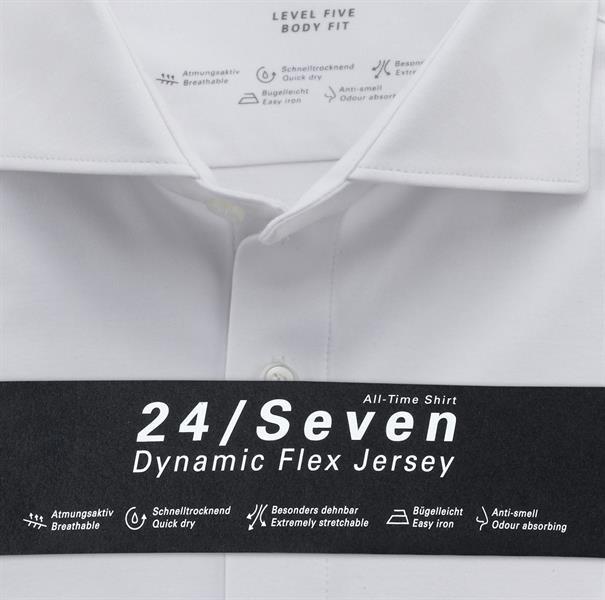 OLYMP jersey overhemd Body fit 200684 in het Wit