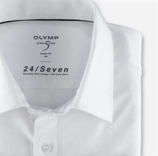 OLYMP jersey overhemd Body fit 200864 in het Wit