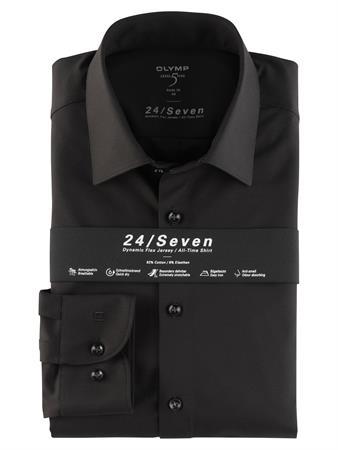 OLYMP jersey overhemd Body fit 200864 in het Zwart