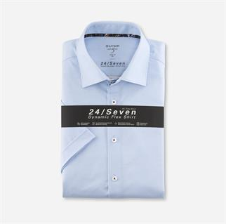 OLYMP jersey overhemd Body fit 201472 in het Blauw