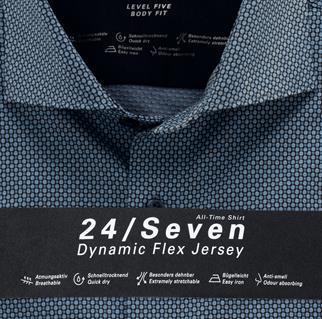 OLYMP jersey overhemd Body fit 201684 in het Blauw