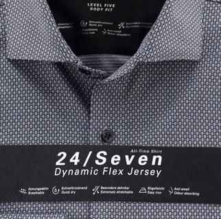 OLYMP jersey overhemd Body fit 201684 in het Grijs