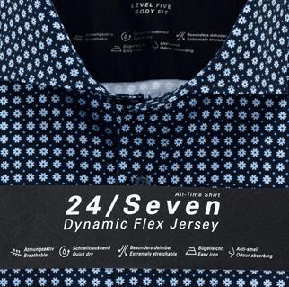 OLYMP jersey overhemd Body fit 201884 in het Marine