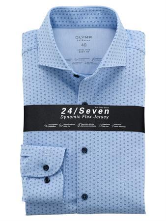 OLYMP jersey overhemd Body fit 202084 in het Blauw