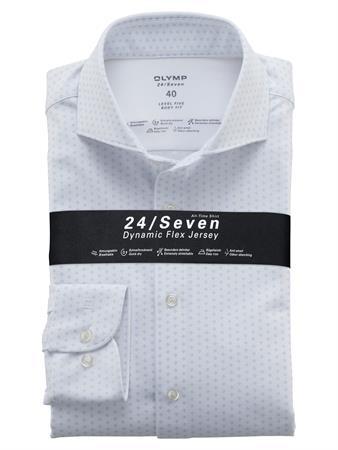 OLYMP jersey overhemd Body fit 202084 in het Wit