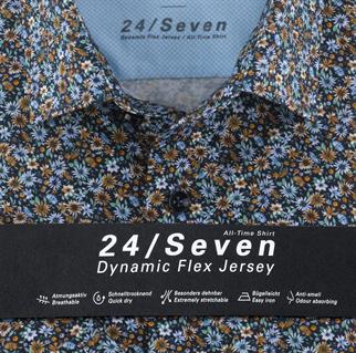 OLYMP jersey overhemd Modern Fit 120172 in het Groen