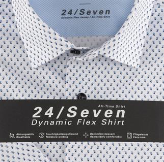 OLYMP jersey overhemd Modern Fit 120372 in het Blauw