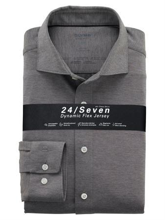 OLYMP jersey overhemd Modern Fit 121084 in het Antraciet