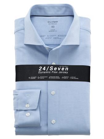 OLYMP jersey overhemd Modern Fit 121084 in het Blauw