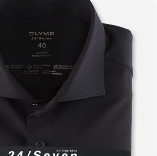 OLYMP jersey overhemd Modern Fit 121084 in het Marine