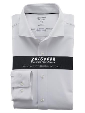 OLYMP jersey overhemd Modern Fit 121084 in het Wit