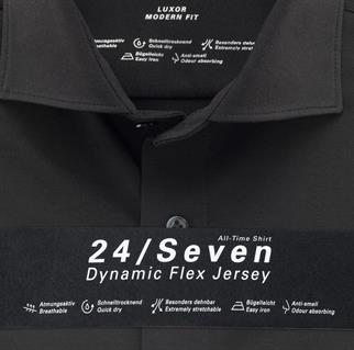 OLYMP jersey overhemd Modern Fit 121084 in het Zwart