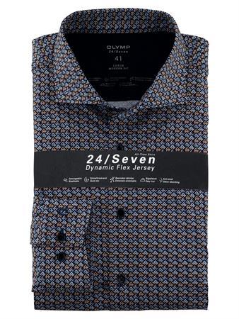 OLYMP jersey overhemd Modern Fit 122284 in het Donker Rood