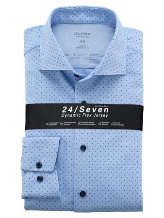 OLYMP jersey overhemd Modern Fit 122484 in het Blauw