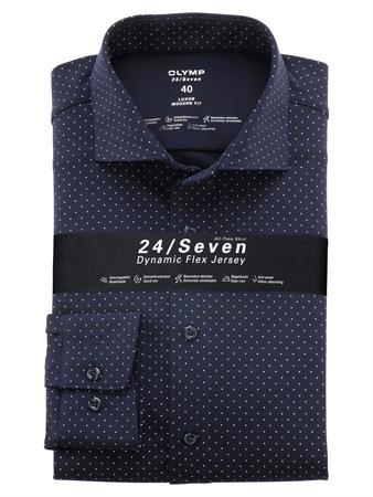 OLYMP jersey overhemd Modern Fit 122484 in het Marine