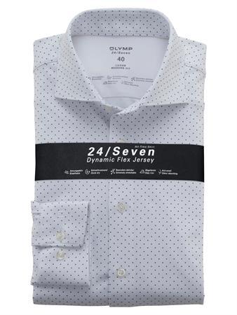 OLYMP jersey overhemd Modern Fit 122484 in het Wit