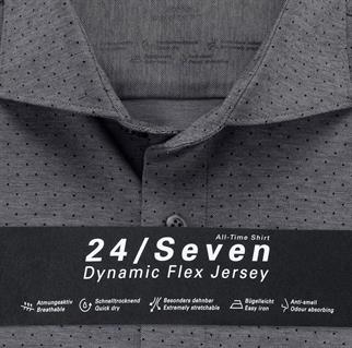 OLYMP jersey overhemd Modern Fit 122484 in het Zwart