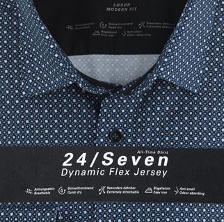 OLYMP jersey overhemd Modern Fit 123484 in het Marine