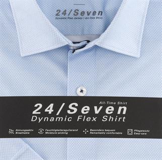 OLYMP jersey overhemd Modern Fit 125272 in het Blauw
