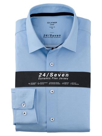 OLYMP jersey overhemd Modern Fit 125274 in het Blauw