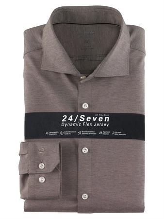 OLYMP jersey overhemd Super Slim Fit 250284 in het Antraciet