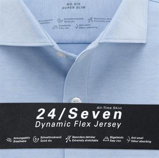 OLYMP jersey overhemd Super Slim Fit 250284 in het Blauw