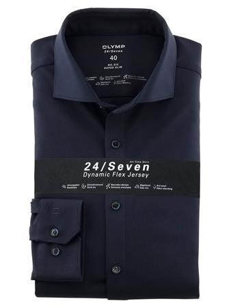 OLYMP jersey overhemd Super Slim Fit 250284 in het Marine