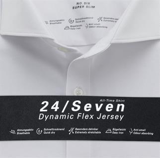 OLYMP jersey overhemd Super Slim Fit 250284 in het Wit