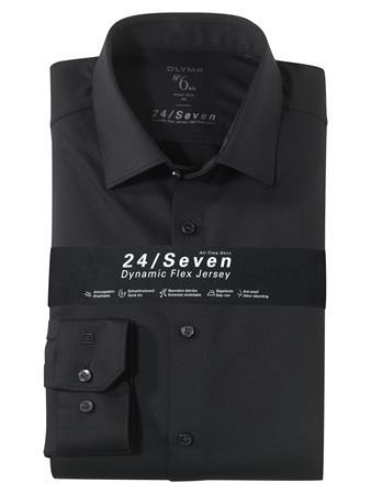 OLYMP jersey overhemd Super Slim Fit 251264 in het Zwart