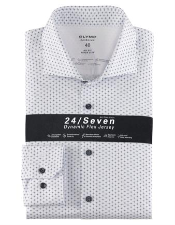 OLYMP jersey overhemd Super Slim Fit 251684 in het Blauw