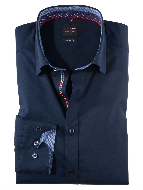 OLYMP overhemd Body fit 076564 in het Kobalt