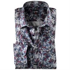 OLYMP overhemd Body fit 200324 in het Donker Rood