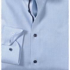 OLYMP overhemd Body fit 203134 in het Kobalt