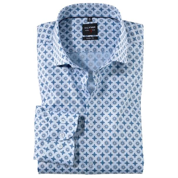 OLYMP overhemd Body fit 203934 in het Kobalt