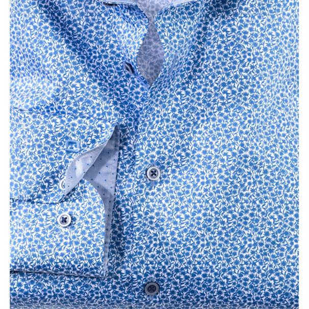 OLYMP overhemd Body fit 206834 in het Kobalt