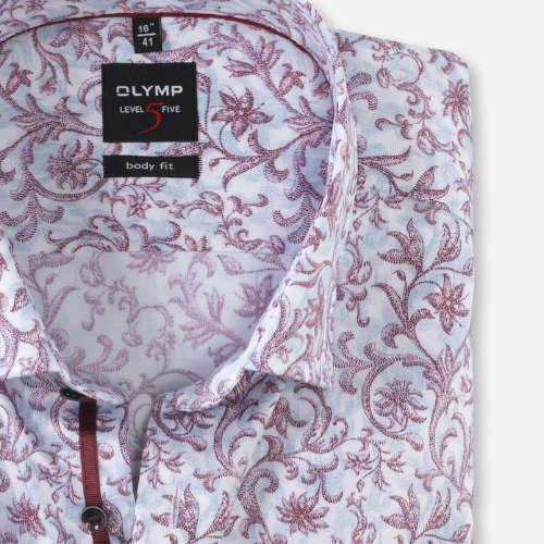 OLYMP overhemd Body fit 207044 in het Donker Rood