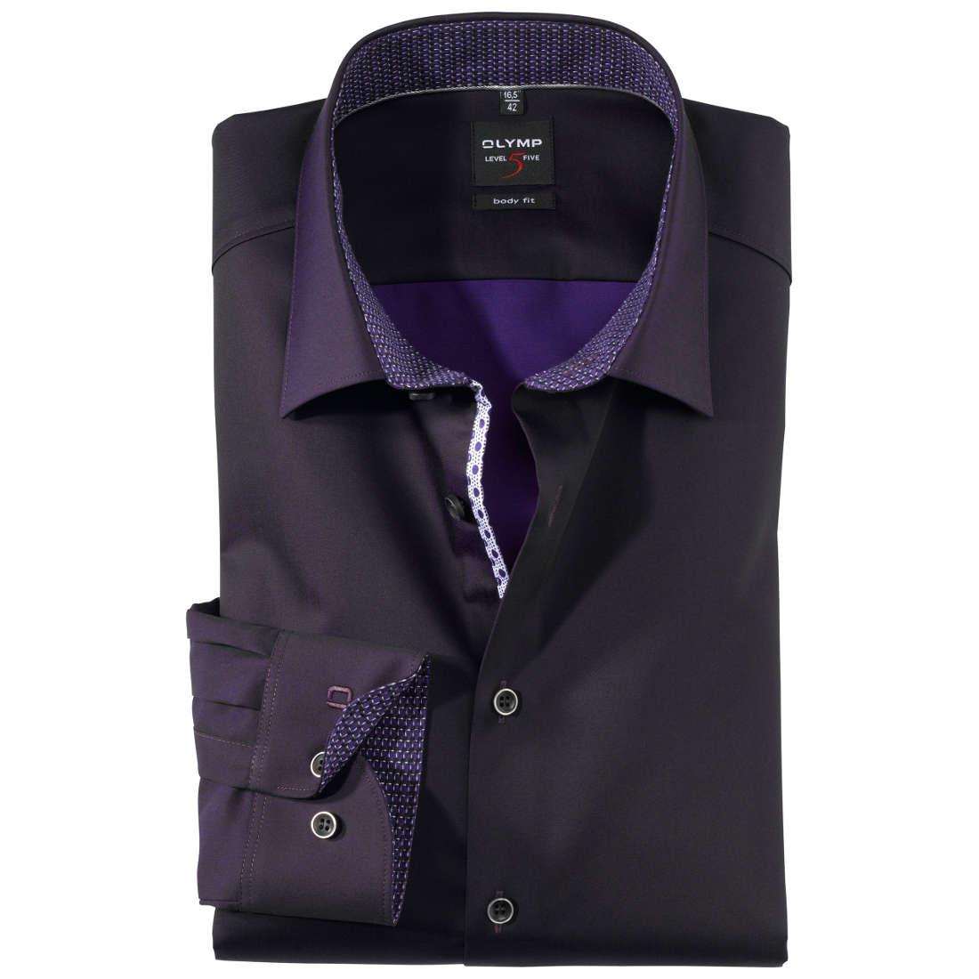 olymp overhemd body fit 207684 in het lila overhemden. Black Bedroom Furniture Sets. Home Design Ideas