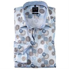 OLYMP overhemd Body fit 209234 in het Bruin