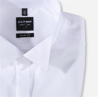 OLYMP overhemd Body fit 307765 in het Wit