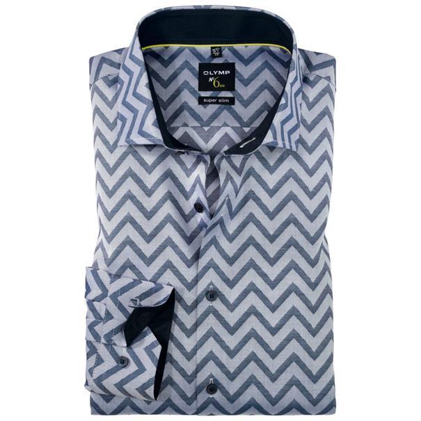 OLYMP overhemd Extra slim fit 252624 in het Marine