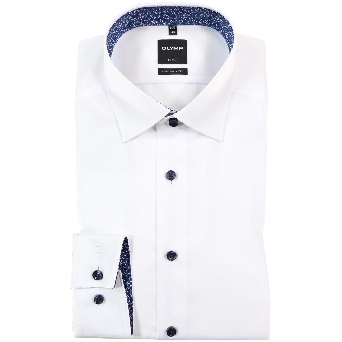 OLYMP overhemd Modern Fit 070464 in het Wit