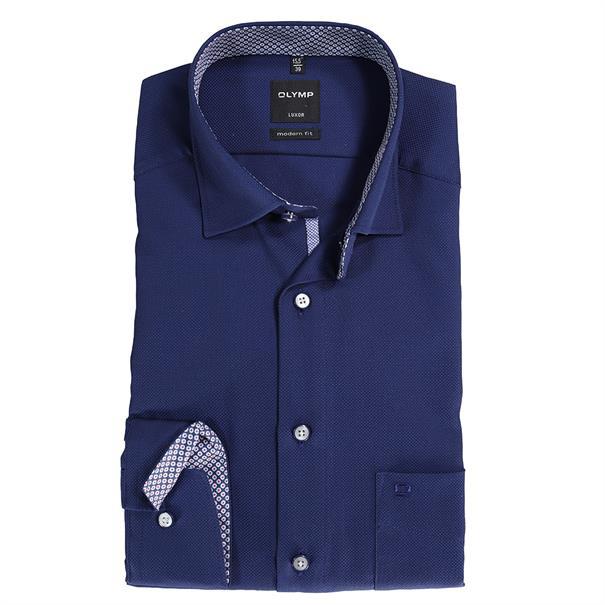 OLYMP overhemd Modern Fit 074164 in het Marine